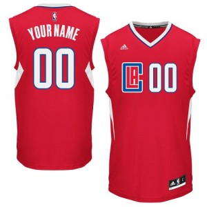 Maillot NBA Authentic Personnalisé Los Angeles Clippers Road Rouge - Homme