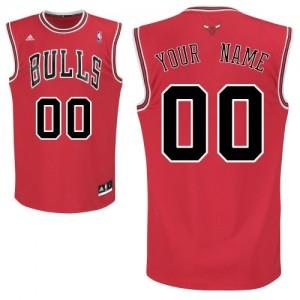 Chicago Bulls Personnalisé Adidas Road Rouge Maillot d'équipe de NBA 100% authentique - Swingman pour Enfants