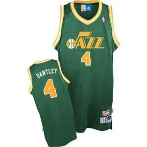 Utah Jazz #4 Adidas Throwback Vert Authentic Maillot d'équipe de NBA Discount - Adrian Dantley pour Homme