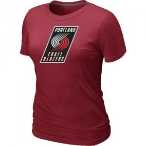 Portland Trail Blazers Big & Tall T-Shirts d'équipe de NBA - Rouge pour Femme