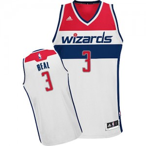 Washington Wizards Bradley Beal #3 Home Swingman Maillot d'équipe de NBA - Blanc pour Homme