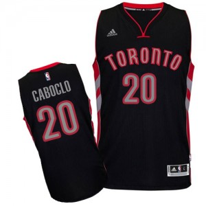 Maillot NBA Noir Bruno Caboclo #20 Toronto Raptors Alternate Swingman Homme Adidas