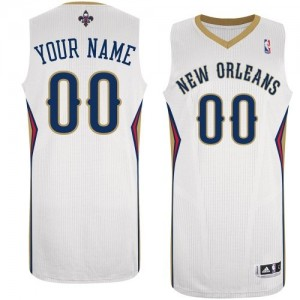 Maillot Adidas Blanc Home New Orleans Pelicans - Authentic Personnalisé - Femme