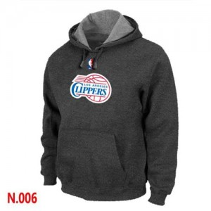 Pullover Sweat à capuche Los Angeles Clippers NBA Gris foncé - Homme