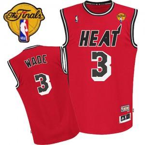 Maillot NBA Rouge Dwyane Wade #3 Miami Heat Hardwood Classics Nights Finals Patch Swingman Homme Adidas
