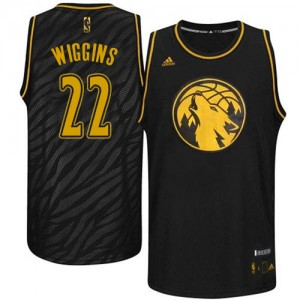 Maillot NBA Swingman Andrew Wiggins #22 Minnesota Timberwolves Precious Metals Fashion Noir - Homme