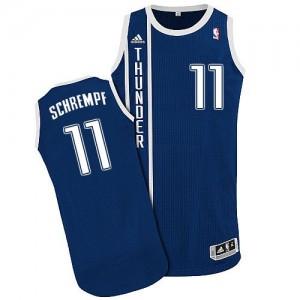 Maillot Authentic Oklahoma City Thunder NBA Alternate Bleu marin - #11 Detlef Schrempf - Homme