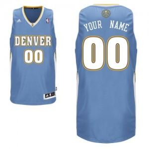Denver Nuggets Swingman Personnalisé Road Maillot d'équipe de NBA - Bleu clair pour Enfants
