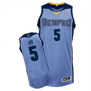 Memphis Grizzlies #5 Adidas Alternate Bleu clair Authentic Maillot d'équipe de NBA en vente en ligne - Courtney Lee pour Homme