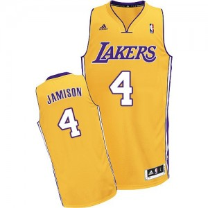 Los Angeles Lakers #4 Adidas Home Or Swingman Maillot d'équipe de NBA sortie magasin - Byron Scott pour Homme