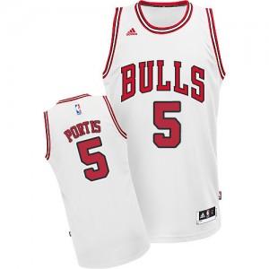 Maillot Swingman Chicago Bulls NBA Home Blanc - #5 Bobby Portis - Homme