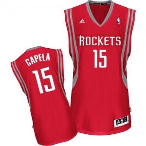 Maillot NBA Houston Rockets #15 Clint Capela Rouge Adidas Swingman Road - Homme