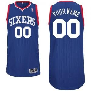 Philadelphia 76ers Authentic Personnalisé Alternate Maillot d'équipe de NBA - Bleu royal pour Homme
