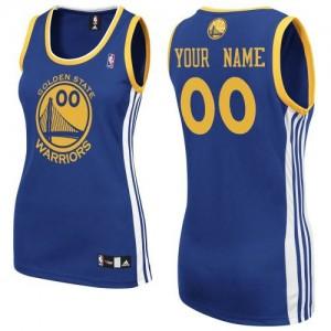 Maillot NBA Golden State Warriors Personnalisé Authentic Bleu royal Adidas Road - Femme