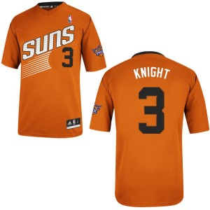 Maillot NBA Orange Brandon Knight #3 Phoenix Suns Alternate Authentic Homme Adidas