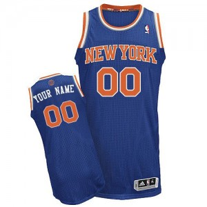 Maillot NBA New York Knicks Personnalisé Authentic Bleu royal Adidas Road - Homme