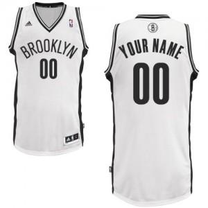 Brooklyn Nets Personnalisé Adidas Home Blanc Maillot d'équipe de NBA Prix d'usine - Swingman pour Homme
