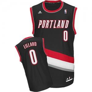Maillot NBA Swingman Damian Lillard #0 Portland Trail Blazers Road Noir - Homme