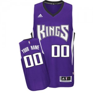 Sacramento Kings Authentic Personnalisé Road Maillot d'équipe de NBA - Violet pour Enfants