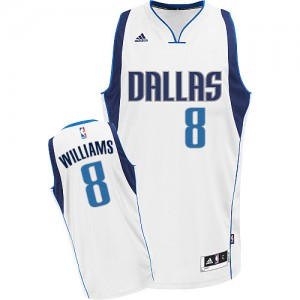 Maillot Adidas Blanc Home Swingman Dallas Mavericks - Deron Williams #8 - Femme