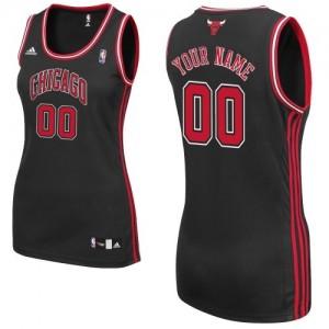 Chicago Bulls Personnalisé Adidas Alternate Noir Maillot d'équipe de NBA préférentiel - Authentic pour Femme