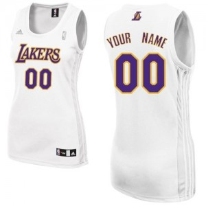Maillot Adidas Blanc Alternate Los Angeles Lakers - Swingman Personnalisé - Femme