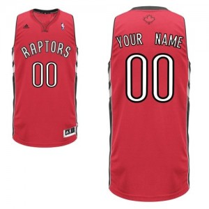 Maillot NBA Toronto Raptors Personnalisé Swingman Rouge Adidas Road - Homme