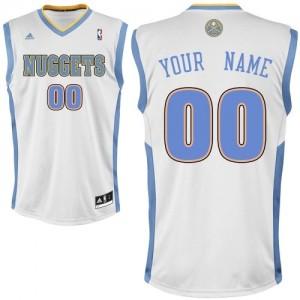 Denver Nuggets Swingman Personnalisé Home Maillot d'équipe de NBA - Blanc pour Enfants