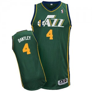 Maillot NBA Vert Adrian Dantley #4 Utah Jazz Alternate Authentic Homme Adidas