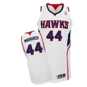Maillot NBA Authentic Pete Maravich #44 Atlanta Hawks Home Blanc - Homme