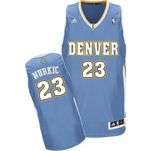 Denver Nuggets #23 Adidas Road Bleu clair Swingman Maillot d'équipe de NBA Peu co?teux - Jusuf Nurkic pour Homme