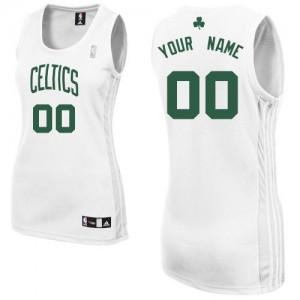 Maillot NBA Blanc Authentic Personnalisé Boston Celtics Home Femme Adidas