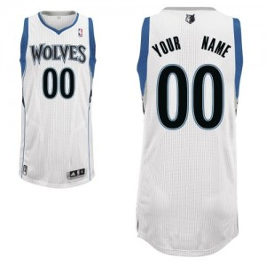 Maillot NBA Blanc Authentic Personnalisé Minnesota Timberwolves Home Homme Adidas