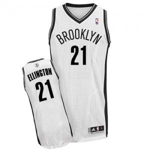 Brooklyn Nets #21 Adidas Home Blanc Authentic Maillot d'équipe de NBA Promotions - Wayne Ellington pour Homme