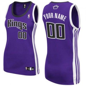 Maillot Adidas Violet Road Sacramento Kings - Authentic Personnalisé - Femme