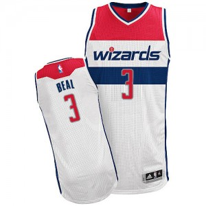 Maillot Adidas Blanc Home Authentic Washington Wizards - Bradley Beal #3 - Homme