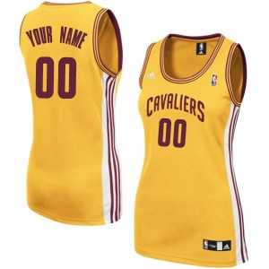 Maillot Adidas Or Alternate Cleveland Cavaliers - Authentic Personnalisé - Femme