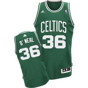 Maillot NBA Vert (No Blanc) Shaquille O'Neal #36 Boston Celtics Road Swingman Homme Adidas