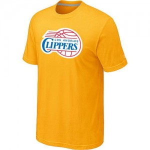 T-Shirts NBA Los Angeles Clippers Big & Tall Jaune - Homme