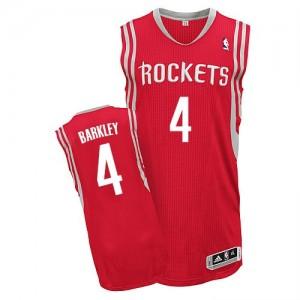Houston Rockets Charles Barkley #4 Road Authentic Maillot d'équipe de NBA - Rouge pour Homme