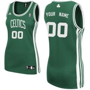 Maillot NBA Vert (No Blanc) Swingman Personnalisé Boston Celtics Road Femme Adidas