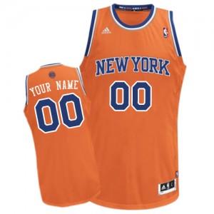Maillot NBA Orange Swingman Personnalisé New York Knicks Alternate Femme Adidas