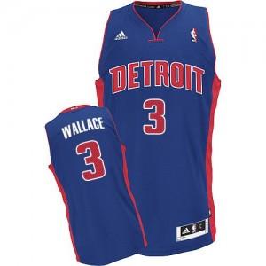Detroit Pistons #3 Adidas Road Bleu royal Swingman Maillot d'équipe de NBA Vente pas cher - Ben Wallace pour Homme