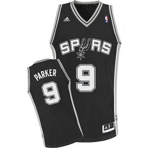Maillot NBA Swingman Tony Parker #9 San Antonio Spurs Road Noir - Enfants