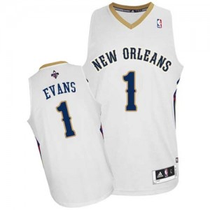 Maillot Authentic New Orleans Pelicans NBA Home Blanc - #1 Tyreke Evans - Homme