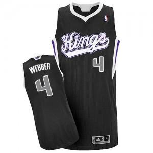 Maillot Authentic Sacramento Kings NBA Alternate Noir - #4 Chris Webber - Homme