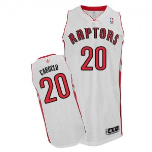 Maillot NBA Blanc Bruno Caboclo #20 Toronto Raptors Home Authentic Homme Adidas