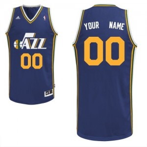 Maillot NBA Utah Jazz Personnalisé Swingman Bleu marin Adidas Road - Enfants