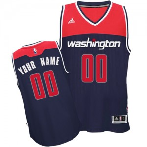 Maillot Adidas Bleu marin Alternate Washington Wizards - Swingman Personnalisé - Femme