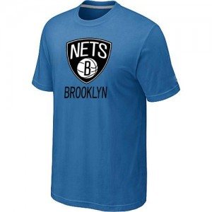 T-Shirts NBA Brooklyn Nets Big & Tall Bleu clair - Homme